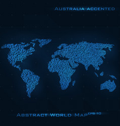 World abstract map australia vector