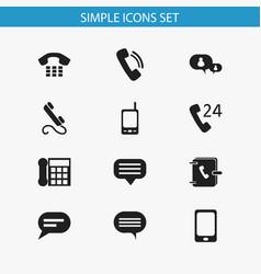 Set of 12 editable gadget icons includes symbols vector