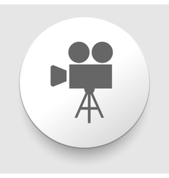 Movie symbol on gray background vector