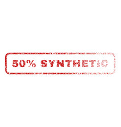 50 percent synthetic rubber stamp vector