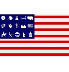 Creative american flag icons vector