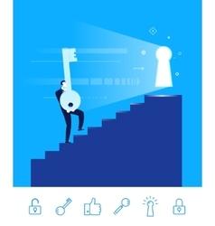teamwork Businessman go to vector image
