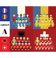 Players with flags group a vector