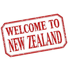 New zealand - welcome red vintage isolated label vector