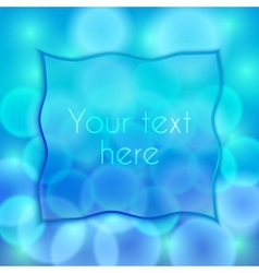 Abstract blue background with bokeh effect and vector