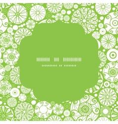 abstract green and white circles circle frame vector image vector image
