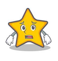 Afraid star character cartoon style vector