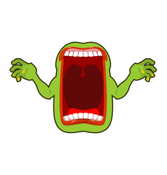 angry hungry spirit scary ghost shouts horrible vector image vector image