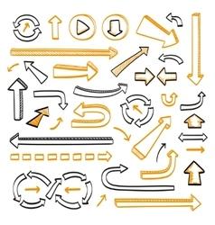 Arrows doodle set vector