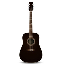 Black acoustic guitar vector image