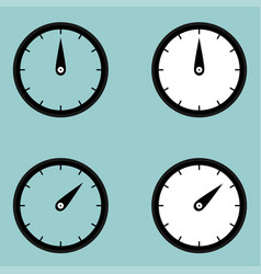 Black clock watcher timer icon vector