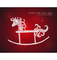 Chinese Zodiac New Year of the Horse vector image vector image