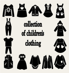 collection of children clothing vector image vector image