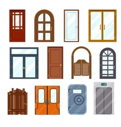 colourful front doors vector image vector image