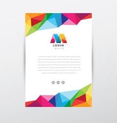 Corporate stationary branding template vector