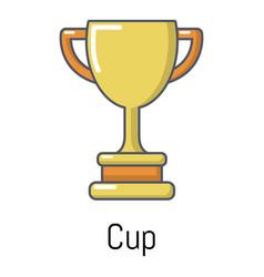 cup icon cartoon style vector image vector image