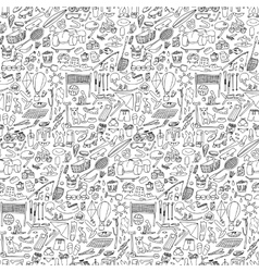 Doodle rest seamless vector image