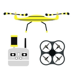 Drone quadcopter vector image