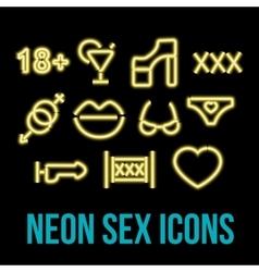 Erotic xxx icons vector