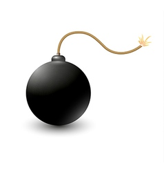 Exploding bomb vector