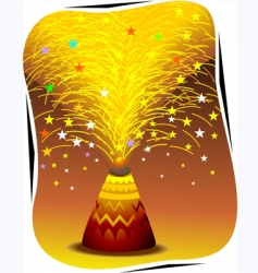 fire crackers vector image