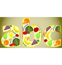 Fruit letters vector