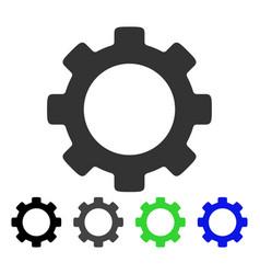 Gear flat icon vector