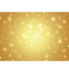 Gold Background With Stars vector image vector image