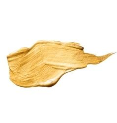 Gold bronze metal foil glitter brush stroke vector