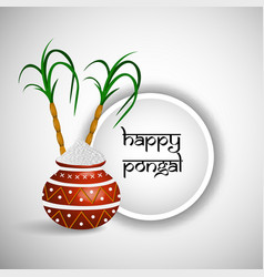 Indian festival pongal background vector
