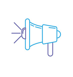line megaphone tool to speaker communication vector image
