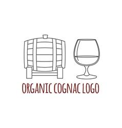 Modern line style logo branding logotype badge wit vector