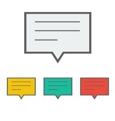 notification icon vector image vector image