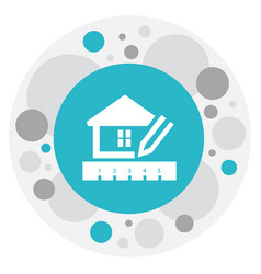 of building symbol on house vector image