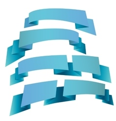Printdecorative festive ribbons vector image vector image