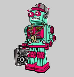 robot boombox vector image vector image