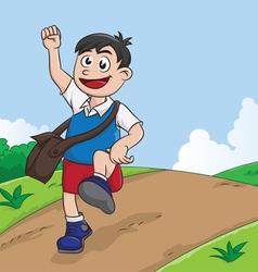 Schooling Boy vector image vector image
