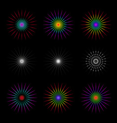 set of geometric circles vector image vector image
