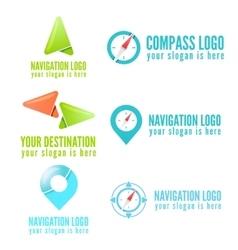 Set of logo badge label emblem or logotype vector image