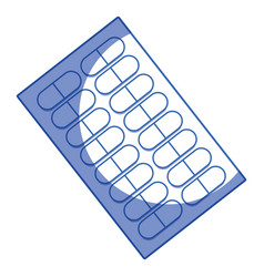 Silhouette pills treatment pharmaceutical vector