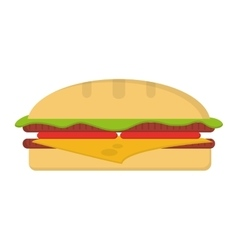 single hamburguer icon vector image
