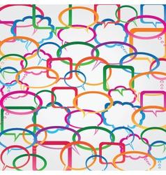 speech bubble wallpaper vector image vector image