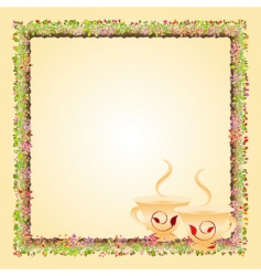 tea time invitation card vector image