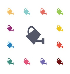 watering can flat icons set vector image