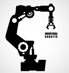 Industrial robotics - production line machinery vector