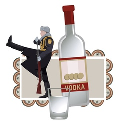 Vodka solider vector