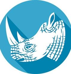 Rhino Head Icon vector image