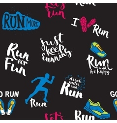 Athlete runner feet running pattern vector image