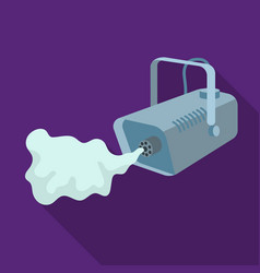 Fog machine icon in flat style isolated on white vector