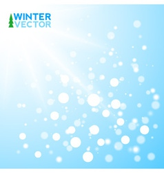 Blue winter background with flakes vector